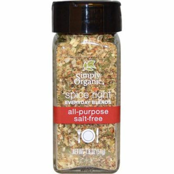 Simply Organic, Organic Spice Right Everyday Blends, All-Purpose Salt-Free, 1.8 oz (pack of 1)