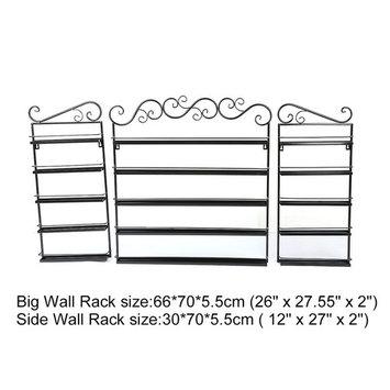 5 Layers Durable Metal Wire Nail Polish Display Organizer Wall Rack Tool