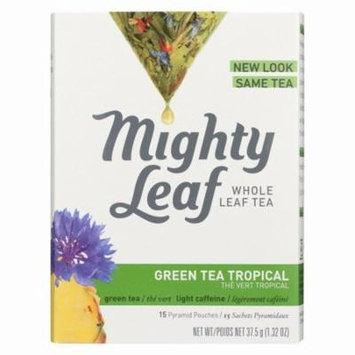 Mighty Leaf Tea Green Tea - Tropical - Pack of 6 - 15 Bags