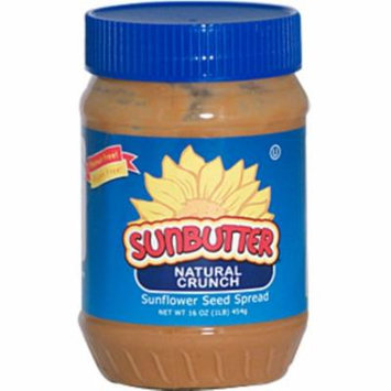 SunButter, Natural Crunch, Sunflower Seed Spread, 16 oz (pack of 6)