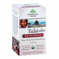 Organic India Organic Tulsi Tea - Red Chai Masala - 18 Tea Bags - Pack of 6