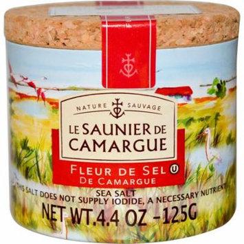 Le Saunier de Camargue, Fleur de Sel, Sea Salt, 4.4 oz (pack of 4)