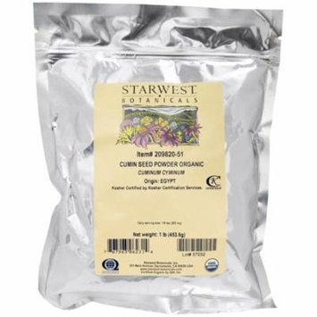 Starwest Botanicals, Organic Cumin Seed Powder, 1 lb (pack of 3)