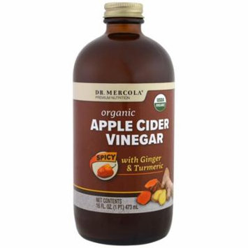 Dr. Mercola, Organic Apple Cider Vinegar, Spicy, 16 oz (pack of 6)