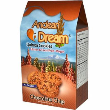 Andean Dream, Quinoa Cookies, Chocolate Chip, 7 oz (pack of 12)