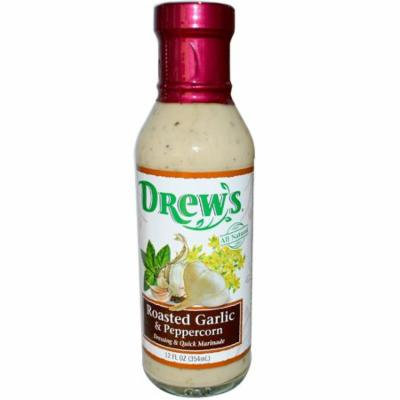Drew's All Natural, Dressing & Quick Marinade, Roasted Garlic & Peppercorn, 12 fl oz (pack of 1)
