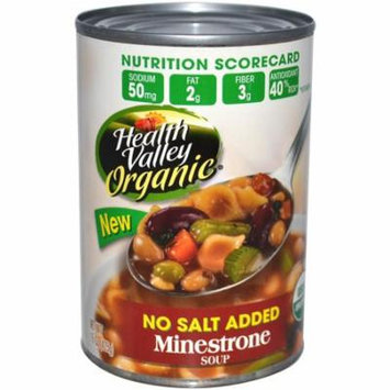 Health Valley, Organic, Minestrone Soup, No Salt Added, 15 oz(pack of 4)