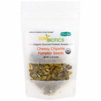 Sunbiotics, Organic Gourmet Probiotic Snacks, Pumpkin Seeds, Cheesy Chipotle, 1.5 oz (pack of 1)
