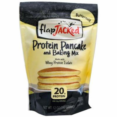 FlapJacked, Protein Pancake and Baking Mix, Buttermilk, 12 oz (pack of 6)