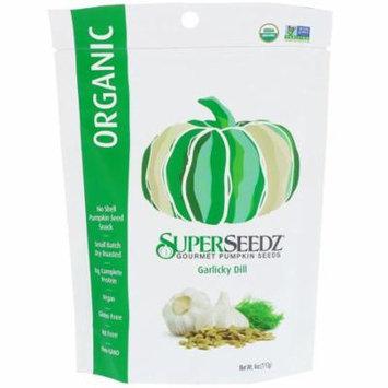SuperSeedz, Gourmet Pumpkin Seeds, Organic, Garlicky Dill, 4 oz (pack of 6 )