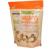 Woodstock, Organic Walnuts, Halves and Pieces, 5.5 oz (pack of 4)