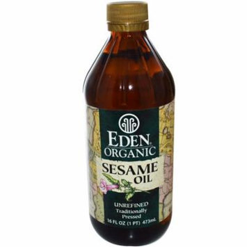 Eden Foods, Organic Sesame Oil, Unrefined, 16 fl oz (pack of 3)