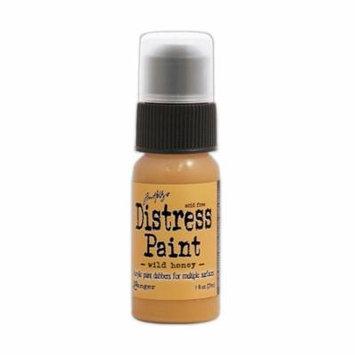 Tim Holtz Distress Paints 1 oz., bottle, wild honey (pack of 3)