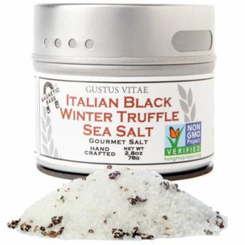 Gustus Vitae, Gourmet Salt, Italian Black Truffle Sea Salt, 2.8 oz (pack of 6)