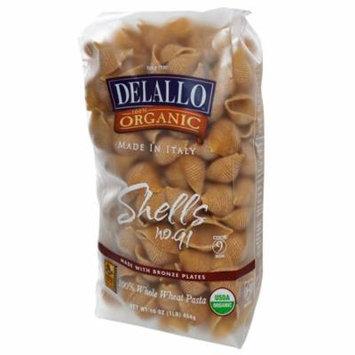 DeLallo, Shells No. 91, 100% Organic Whole Wheat Pasta, 16 oz (pack of 6)