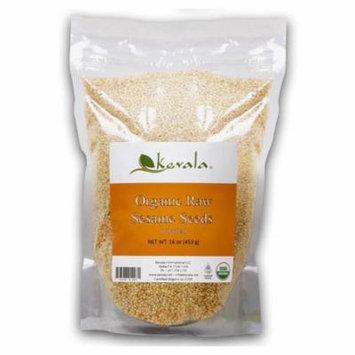Kevala, Organic Raw Sesame Seeds, 16 oz(pack of 6)