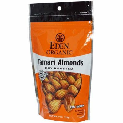 Eden Foods, Organic Tamari Almonds, Dry Roasted, 4 oz (pack of 1)