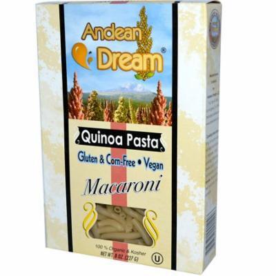 Andean Dream, Quinoa Pasta, Macaroni, 8 oz (pack of 12)