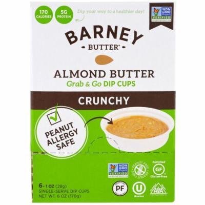 Barney Butter, Almond Butter, Grab & Go Dip Cups, Crunchy, 6 Single-Serve Dip Cups, 1 oz (28 g) Each(pack of 1)