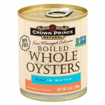 Crown Prince Natural, Boiled Whole Oysters, Packed In Water, 8 oz (pack of 1)