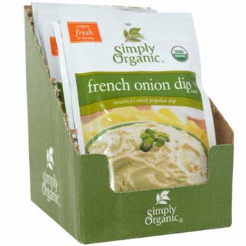 Simply Organic, French Onion Dip Mix, 12 Packets, 1.10 oz (31 g) Each(pack of 2)