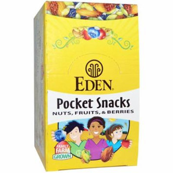 Eden Foods, Pocket Snacks, Quiet Moon, Nuts, Seeds, Dried Fruit, 12 Packages, 1 oz (28.3 g) Each(pack of 3)