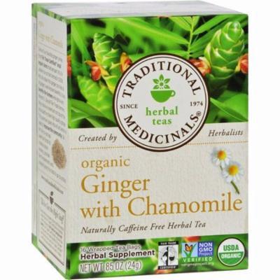 Traditional Medicinals Organic Golden Ginger Herbal Tea - 16 Tea Bags