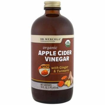Dr. Mercola, Organic Apple Cider Vinegar, Spicy, 16 oz (pack of 4)