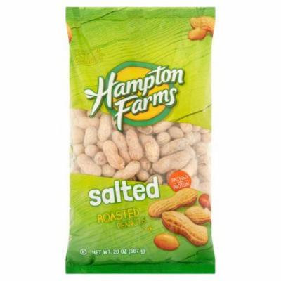 Hampton Farms Salted And Roasted Peanuts, 20 oz, pack of 1