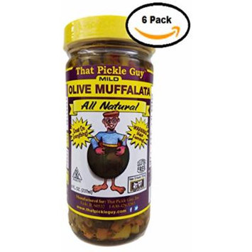 That Pickle Guy All Natural Olive Muffalata Spread (8 oz) (Mild, 6 Jars)