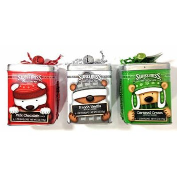 Swiss Miss Hot Cocoa Mix Holiday Assortment Gift Tins - Set of 3 Flavors