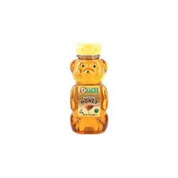 Glicks Pure Clover Honey 12 Oz. Pack Of 6.