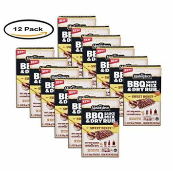 PCK OF 12 - KC Masterpiece BBQ Sauce and Dry Rub Mix Sweet Honey, 2/2oz pouches
