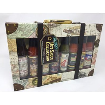 Dat'l Do It Global Collection Hot Sauce Gift Set (8-Bottle Variety Pack)