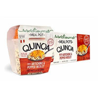 World Gourmet Quinoa Ready To Eat Meal With Artichoke And Pepper Medley ( Pack of 6 )