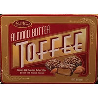 Almond Butter Toffee - Bartons 10oz Gift Tin - Creamy Milk Chocolate Butter Toffee Covered with Roasted Almonds