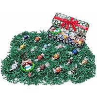 Snowmen Christmas Holiday Tin Gift Box - Lindt Lindor Gourmet Chocolate Truffles & Tree Ornament