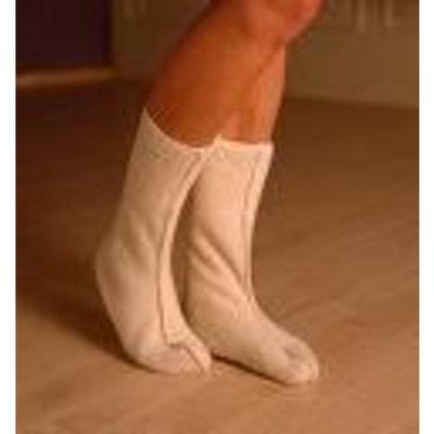 Adult Bed Socks in Organic Merino Wool, Soft Grey, size Large (pair)