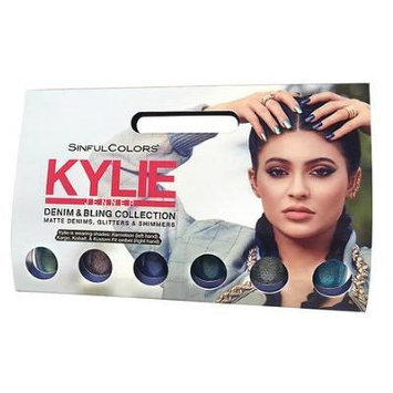 2 pack of SinfulColors Kylie Jenner Denim and Bling Collection& nail polish .1 ea