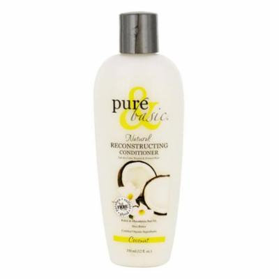 Pure And Basic Reconstructing Hair Conditioner Coconut Shea Butter, 12 oz, 3 Pack