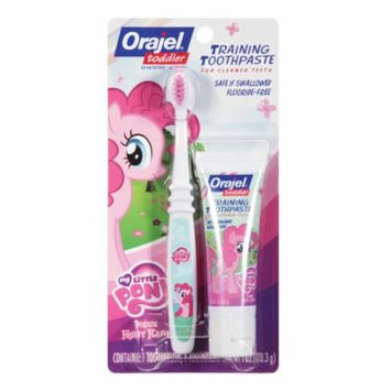 Orajel Toddler My Little Pony Training Toothpaste with Toothbrush Pinky Fruity 1.0 oz.(pack of 6)