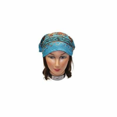 Floral Band Embroidery Headbands / Head wrap / Yoga Headband / Head Sarf / Best Looking Head Band for Sports or Fashion, or Exercise (Blue)