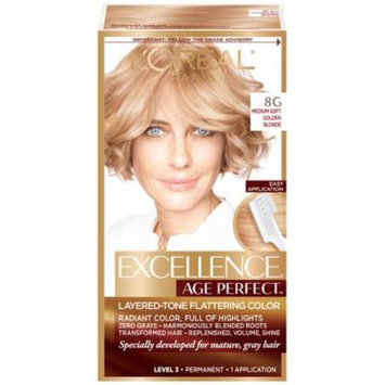 L'Oreal Paris Excellence Age Perfect Permanent Layered-Tone Flattering Color, Medium Soft Golden Blonde 1.0 ea(pack of 3)