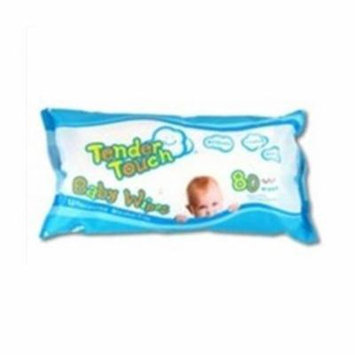 Diamond FG651REF80 Tender Touch Baby Wipes Refill Unscented, 80 Count - Case of 12