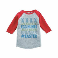 Custom Party Shop Baby Boy's #Easter Happy Easter Red Raglan - 3T