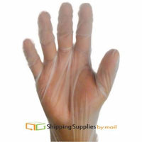 TPE Vinal Disposable Food Service Gloves, Large Powder and Latex Free 600 Count By SSBM