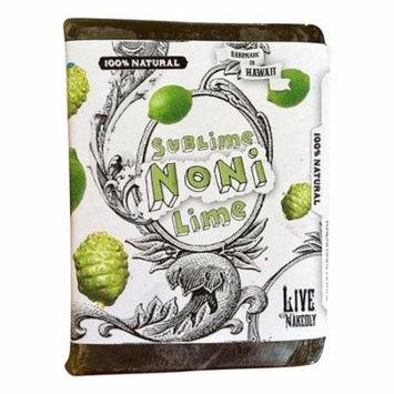 Sublime Noni Lime all natural glycerin BAR SOAP Noni Spirulina Kukui