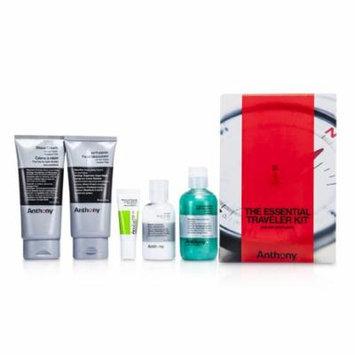 Anthony - Logistics For Men The Essential Traveler Kit: Cleanser + Mositurizer + Lip Blam + Shave Cream + Hair & Body Wash -5pcs