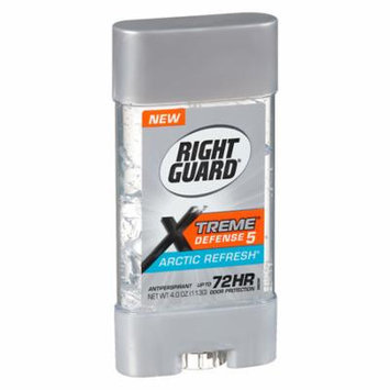 Right Guard Xtreme Defense 5 Antiperspirant & Deodorant Gel Artic Refresh 4.0 oz.(pack of 12)