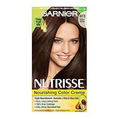 Garnier Nutrisse Permanent Haircolor, Bronze Brown, 413 1.0 ea(pack of 2)